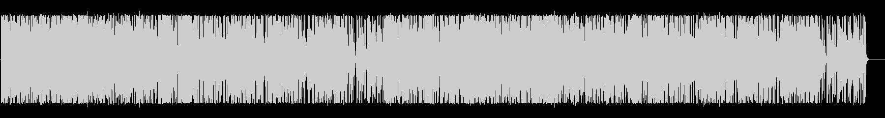 軽快で楽しくポップなBGMの未再生の波形