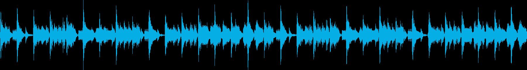 ノリの良いファンクジングル_ループの再生済みの波形