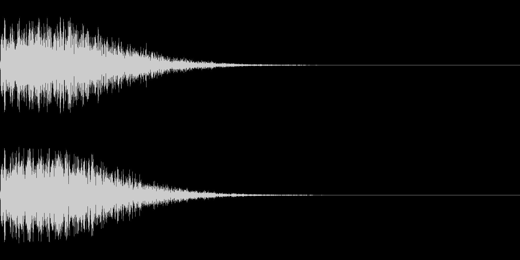 バキューン!(ピストルの発砲音)その2の未再生の波形