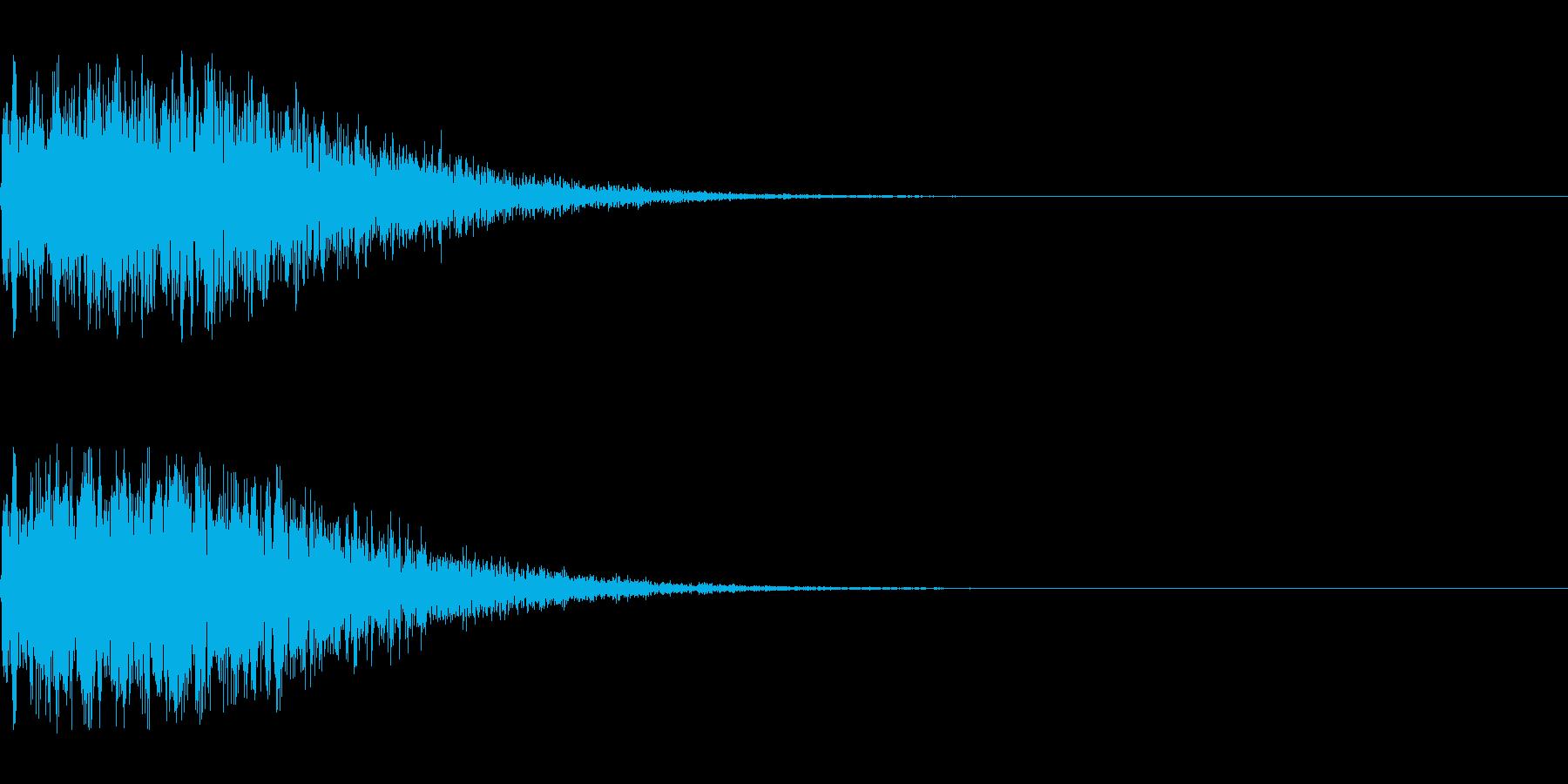 バキューン!(ピストルの発砲音)その2の再生済みの波形