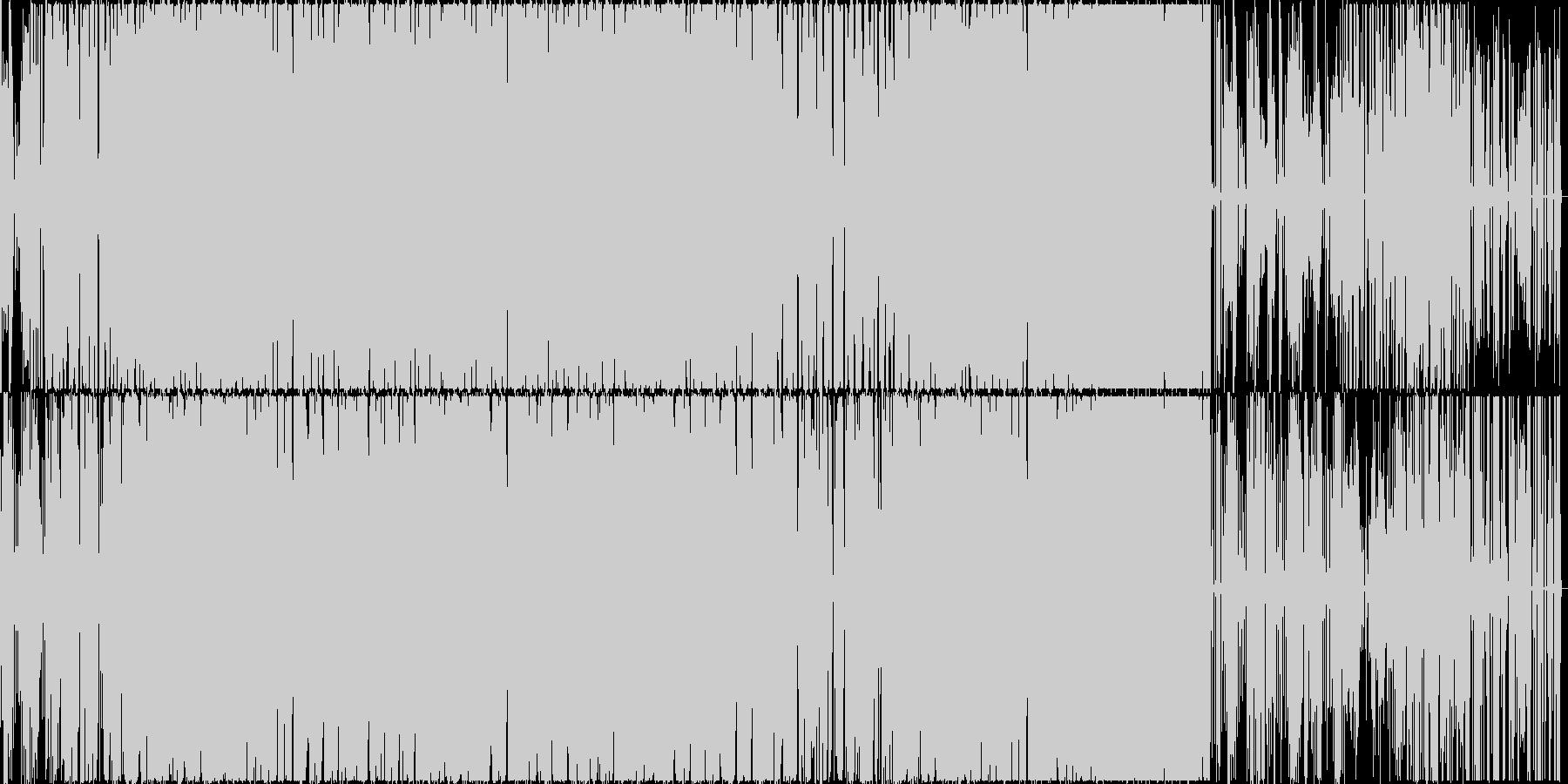 細かい音がピコピコするエレクトロニカの未再生の波形