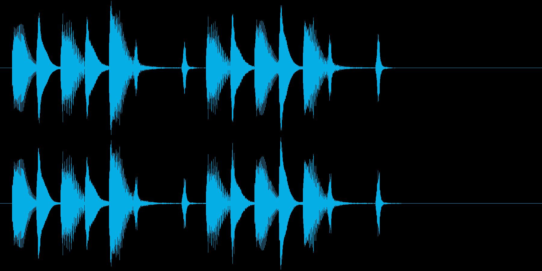木琴の音が特徴のほのぼのとしたジングルの再生済みの波形