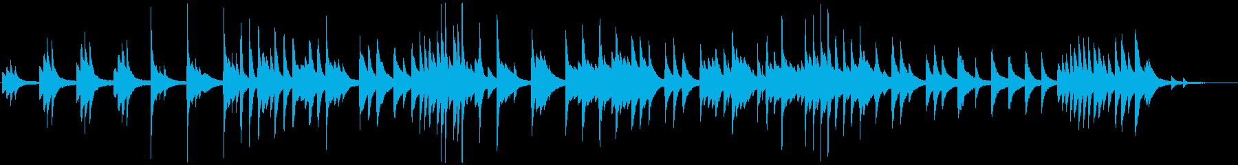 ゆったりと優しいピアノバラードの再生済みの波形