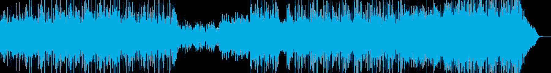 星空イメージのヒーリングの再生済みの波形