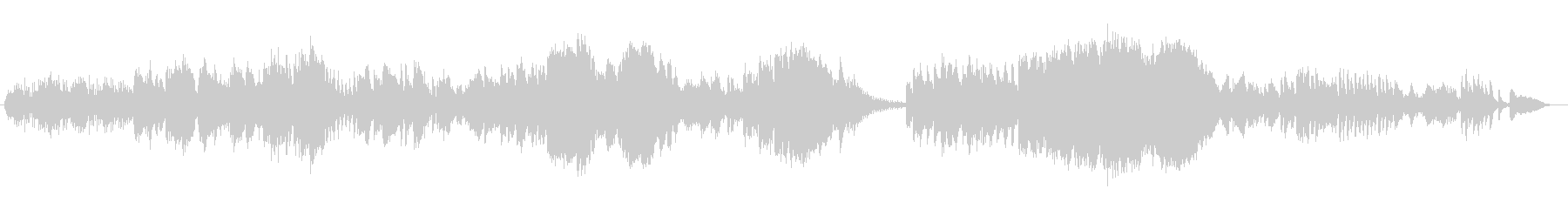 透明感と優しいシンセサイザーサウンドの未再生の波形