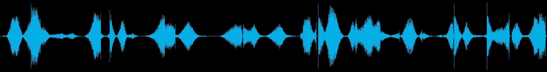 ザー(途切れが入っている機械のノイズ)の再生済みの波形