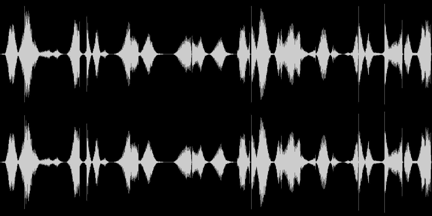 ザー(途切れが入っている機械のノイズ)の未再生の波形