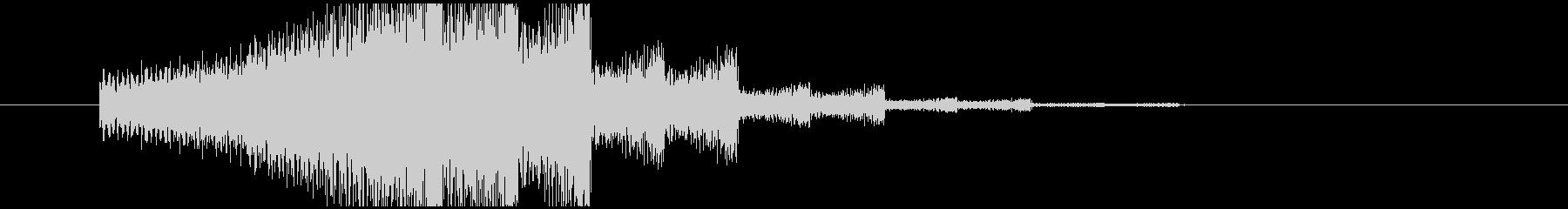 エレキギター音(回想)の未再生の波形