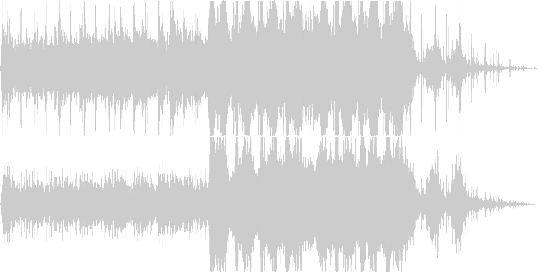 深謀な曲。の未再生の波形