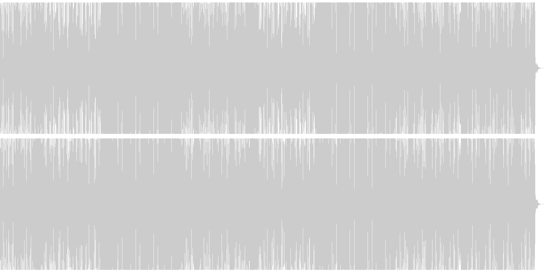 EDM風バラードの未再生の波形