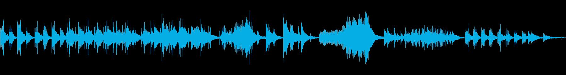 幻想的な映像に合わせやすいピアノソロの再生済みの波形