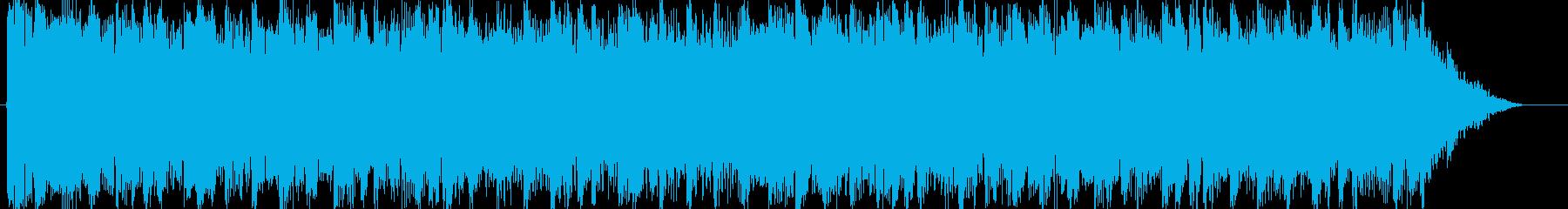 15秒用 ロック系 BGMの再生済みの波形