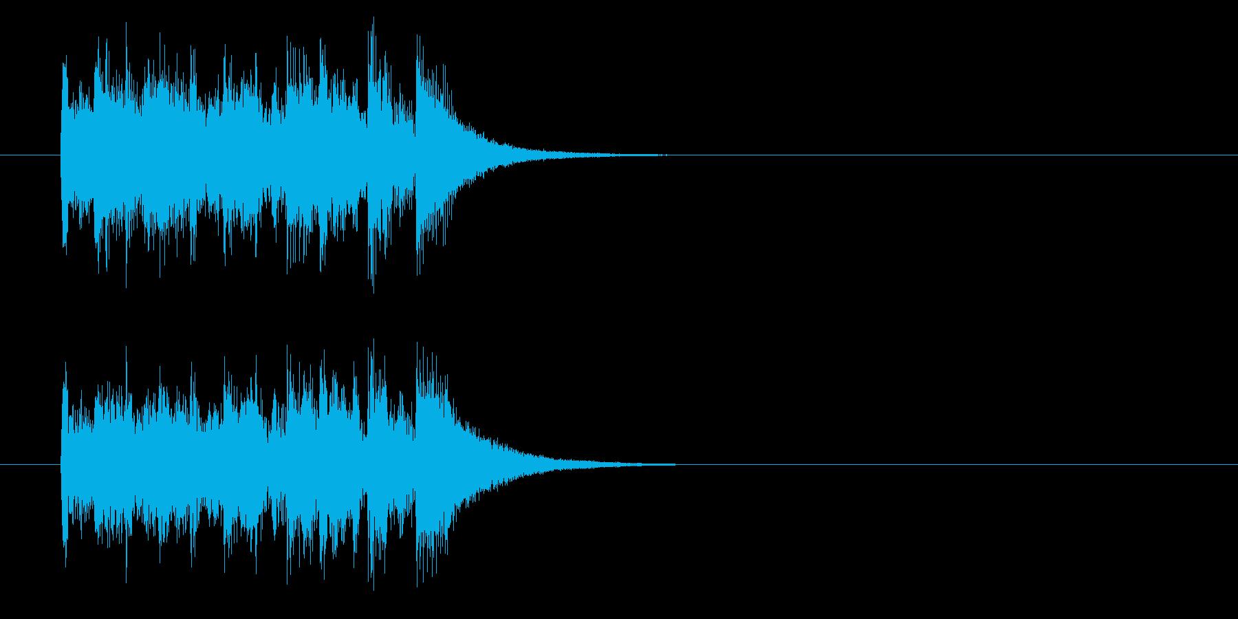 ジングル(スカッと爽やか風)の再生済みの波形