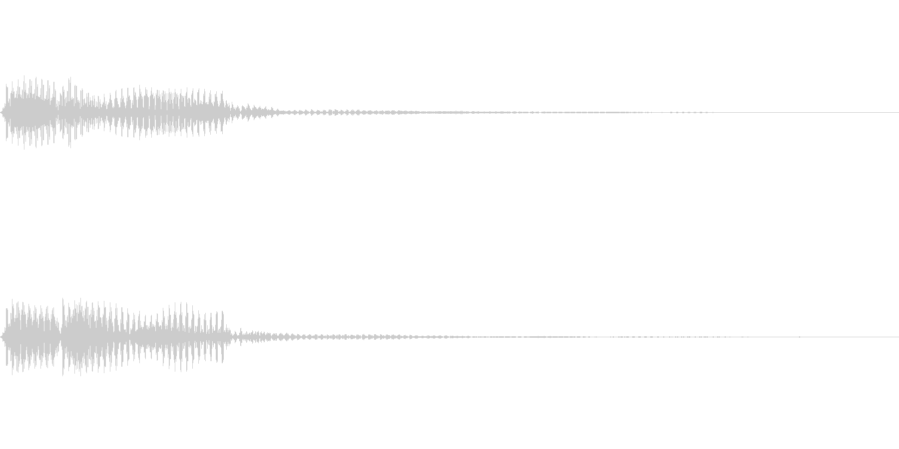 ブブーッ(エラー音)の未再生の波形