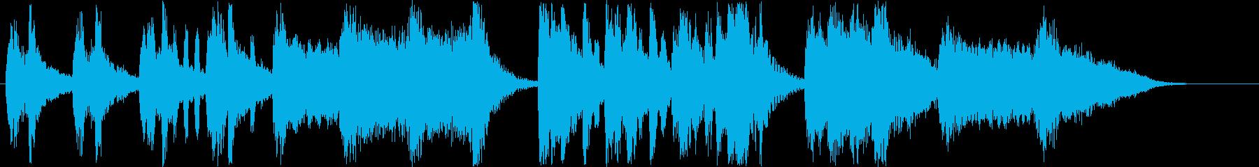 メルヘンなシンセなどの短めサウンドの再生済みの波形