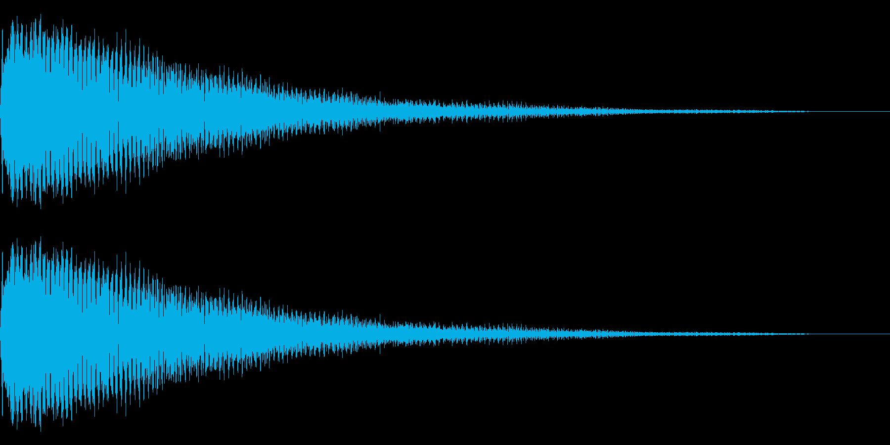 ピアノショッキング音、インパクト音の再生済みの波形