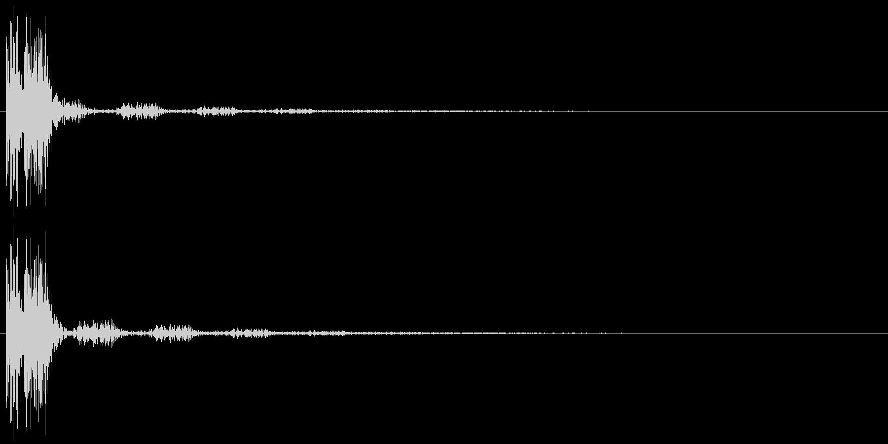 クリック(ゲーム、アプリ操作や決定音に)の未再生の波形