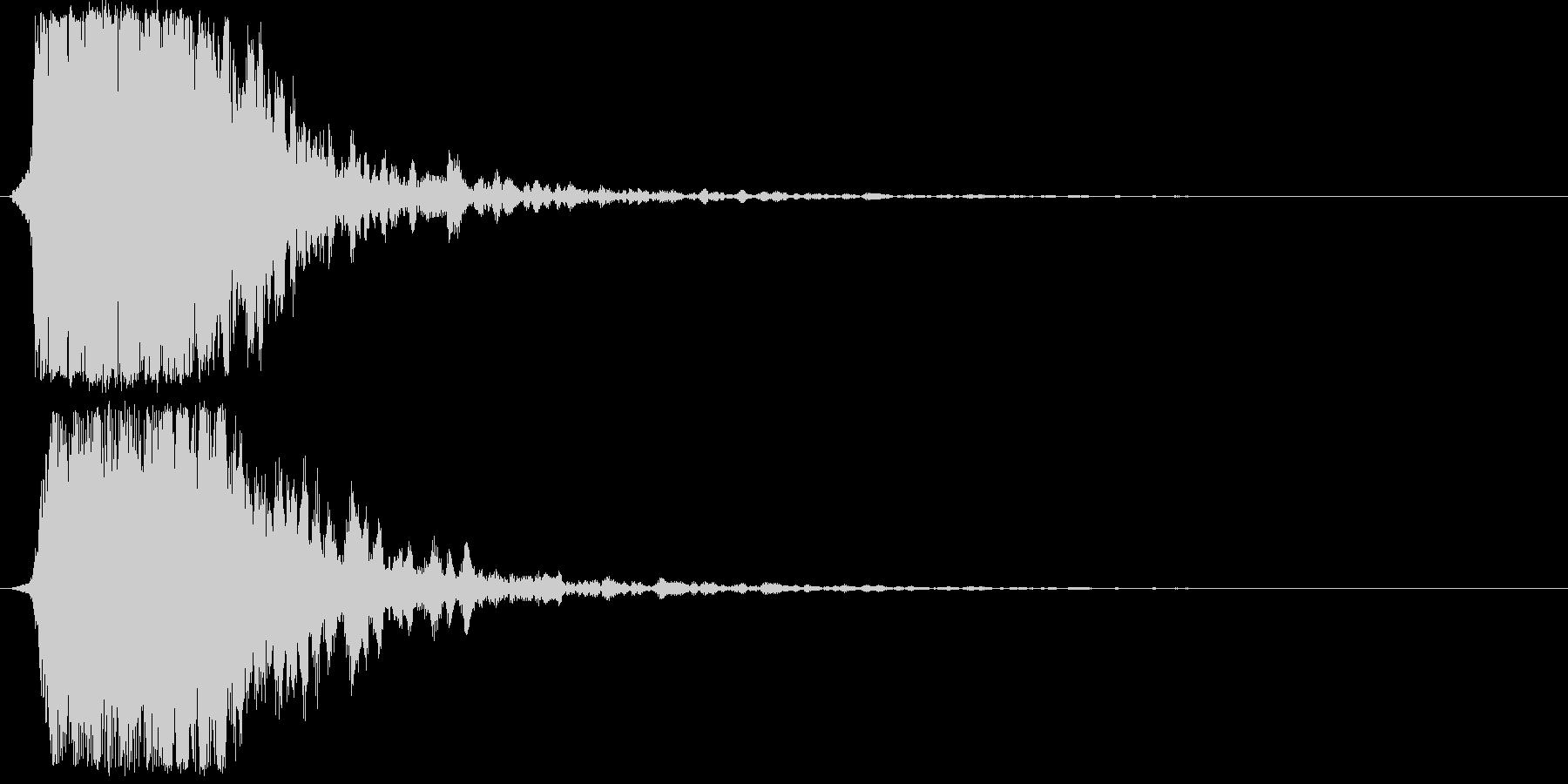 シャキーン(光、輝き、魔法、攻撃等)1bの未再生の波形