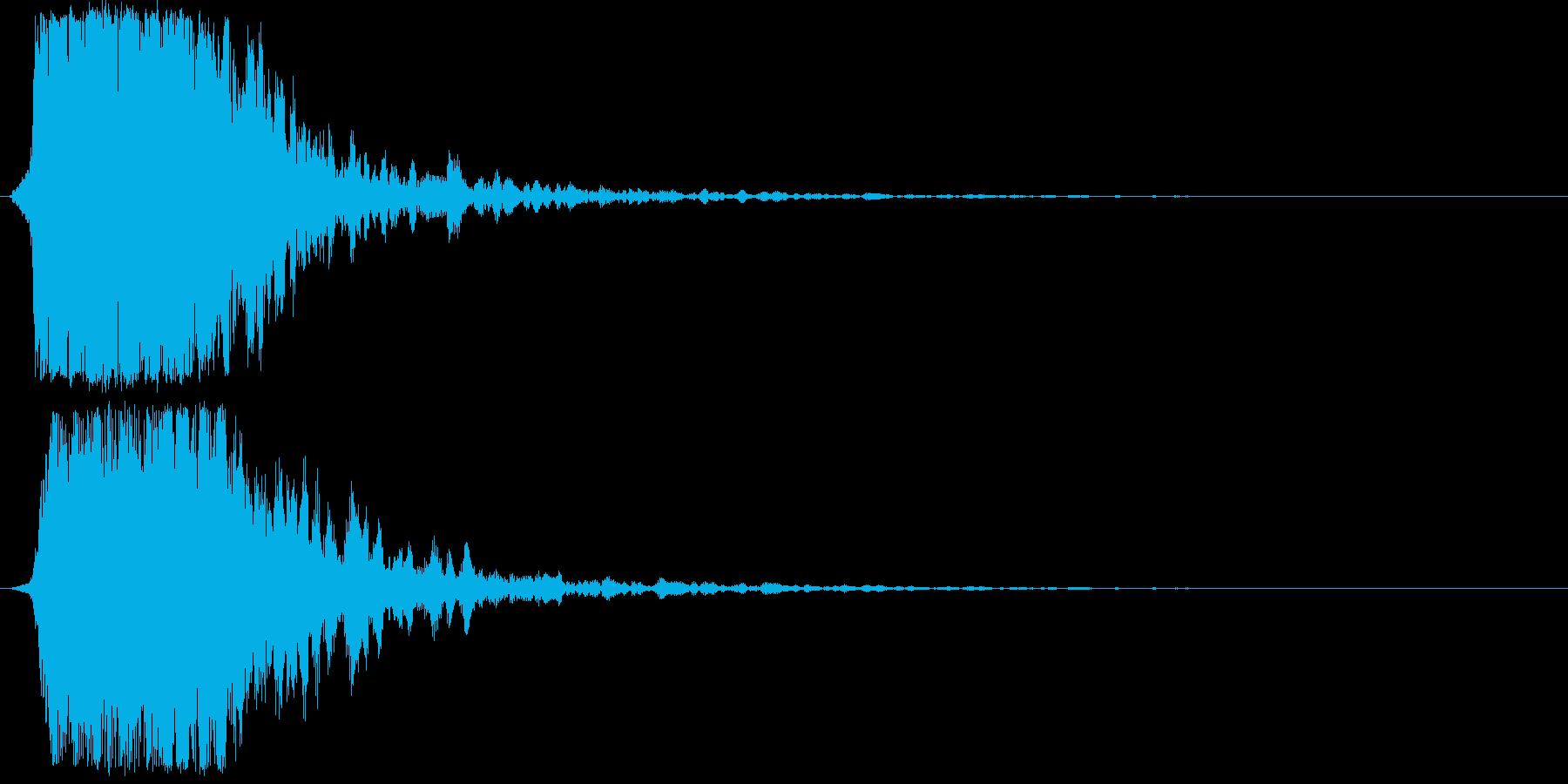 シャキーン(光、輝き、魔法、攻撃等)1bの再生済みの波形