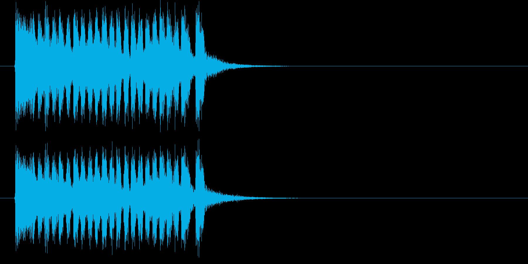 アップテンポな入場行進曲の再生済みの波形