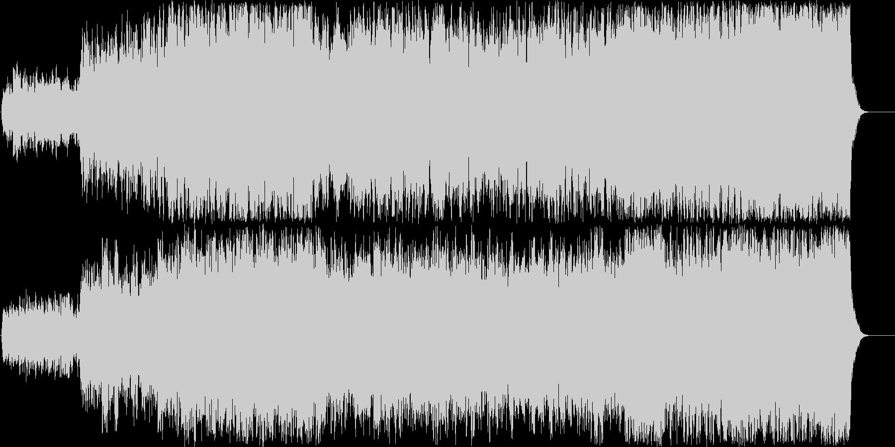 ストリングス大編成で奏でるバロック調の曲の未再生の波形