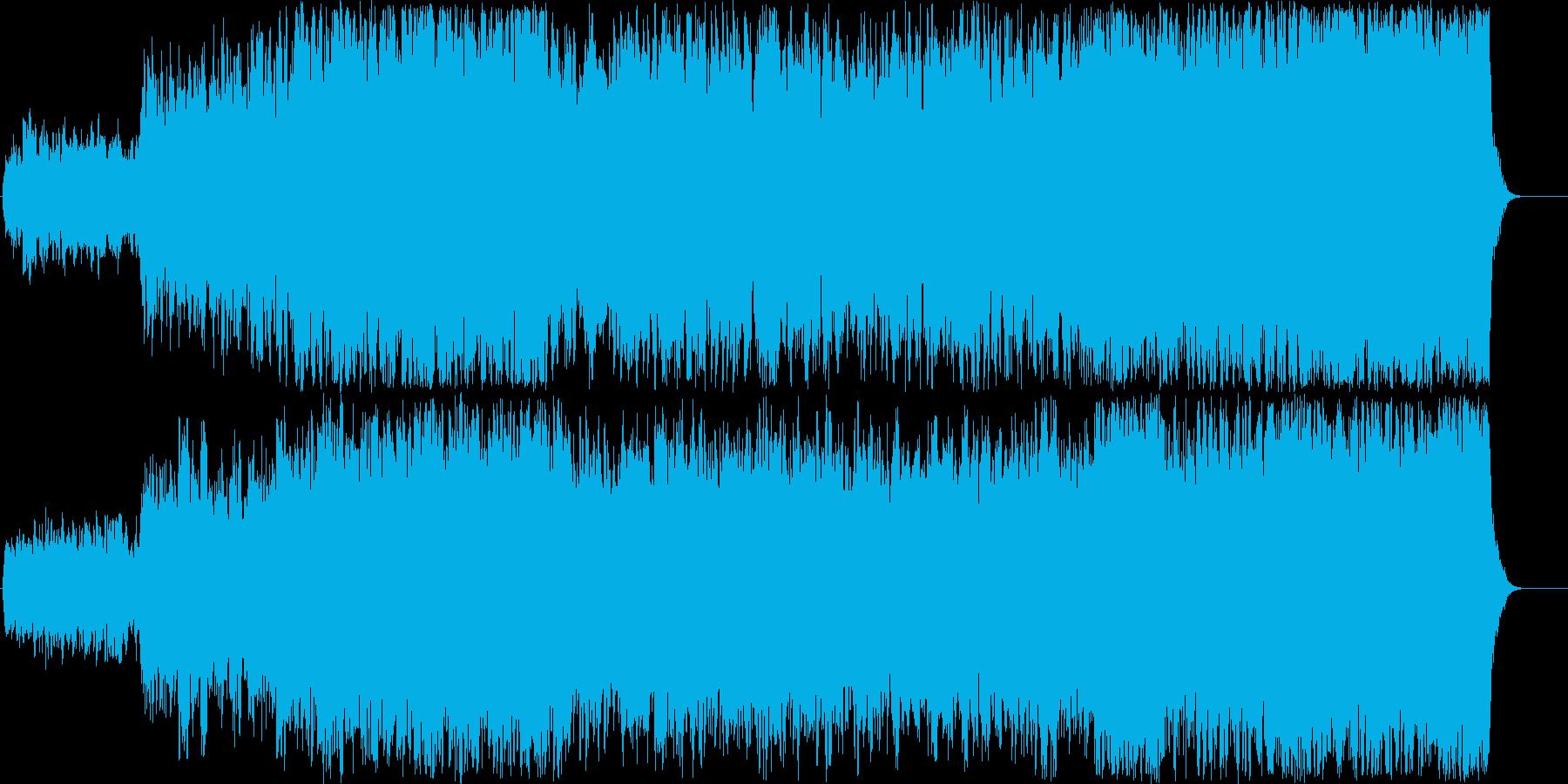 ストリングス大編成で奏でるバロック調の曲の再生済みの波形