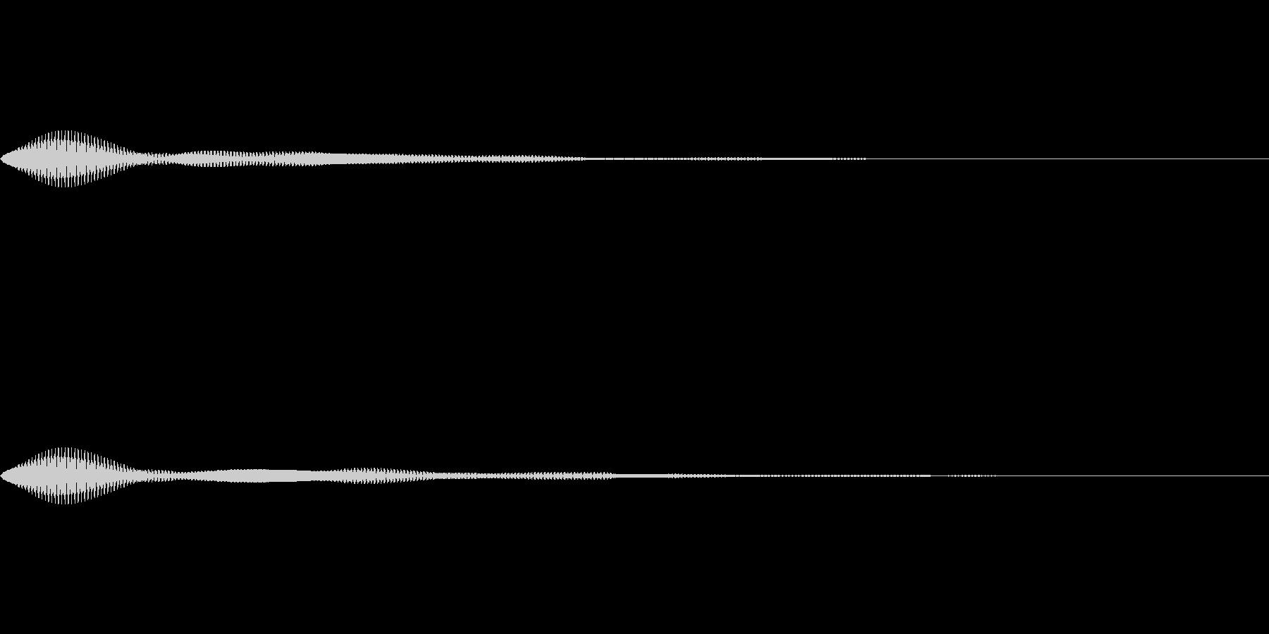 メニュー系SE 決定音2の未再生の波形