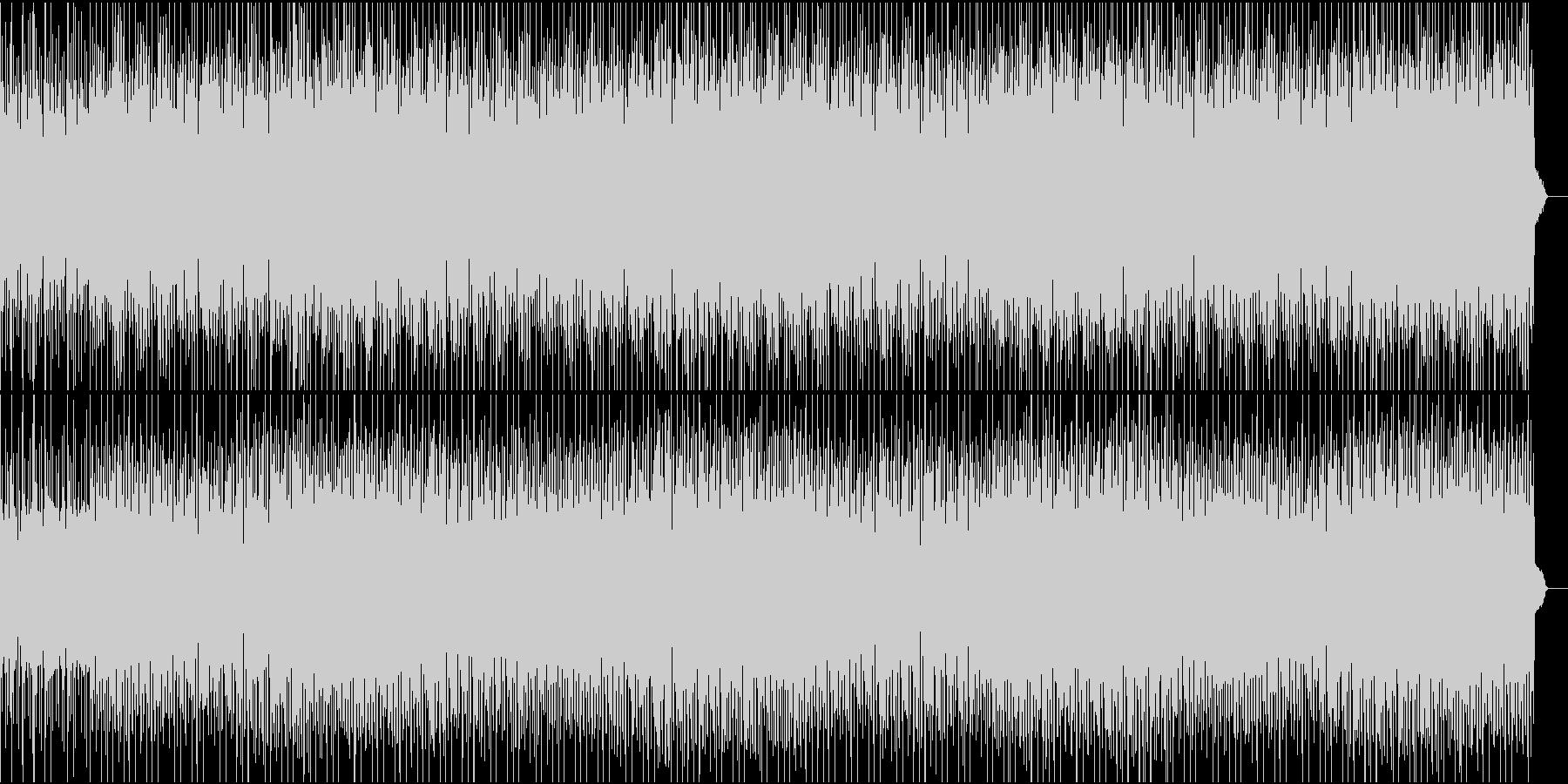 不穏な感じのテクノビート_推理、パズルの未再生の波形