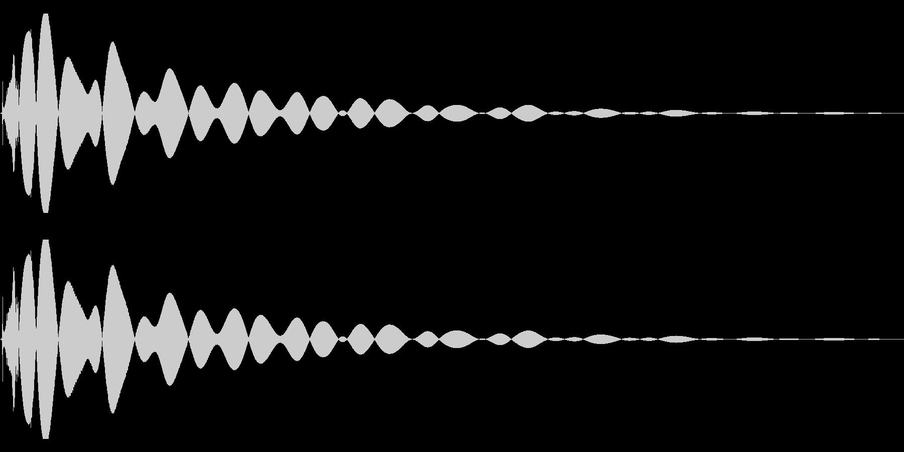 EDMやIDM系のバスドラム 07の未再生の波形