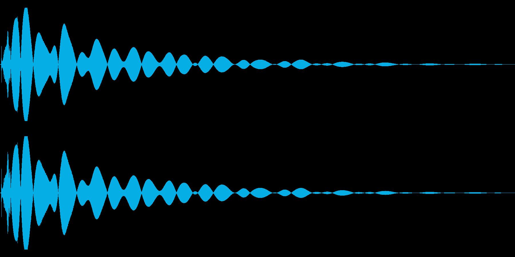 EDMやIDM系のバスドラム 07の再生済みの波形
