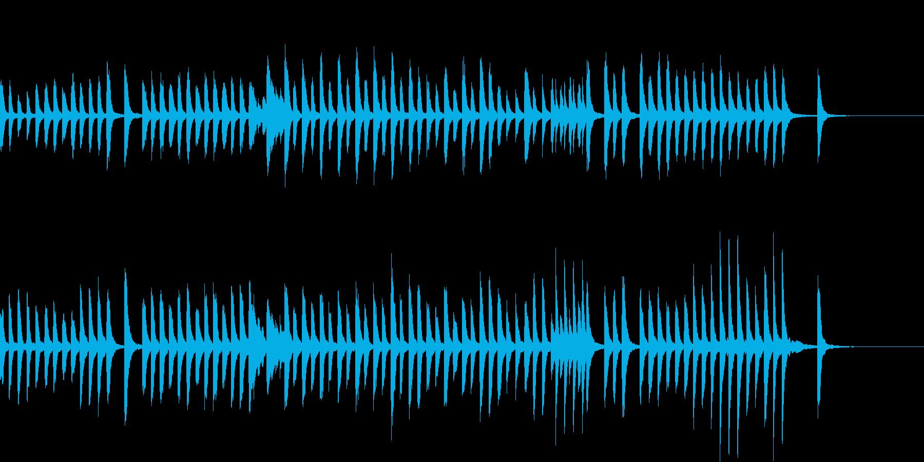 ピアノBGM 知育ゲーム教育アプリの再生済みの波形
