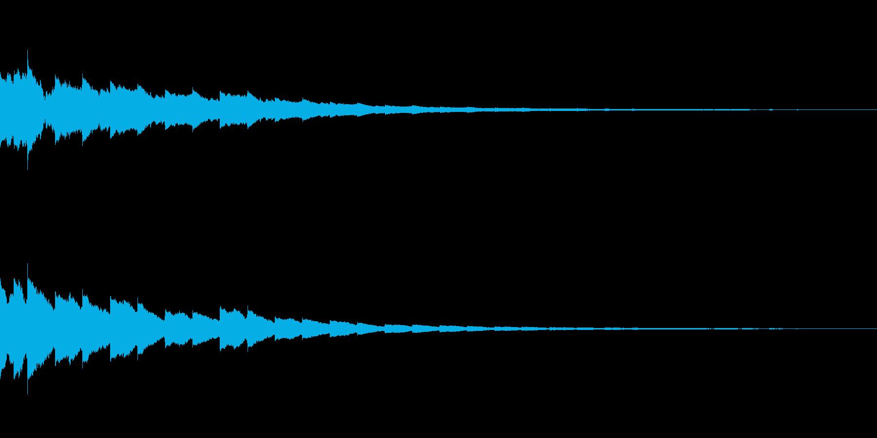 ベルの音を加工してつくりましたの再生済みの波形