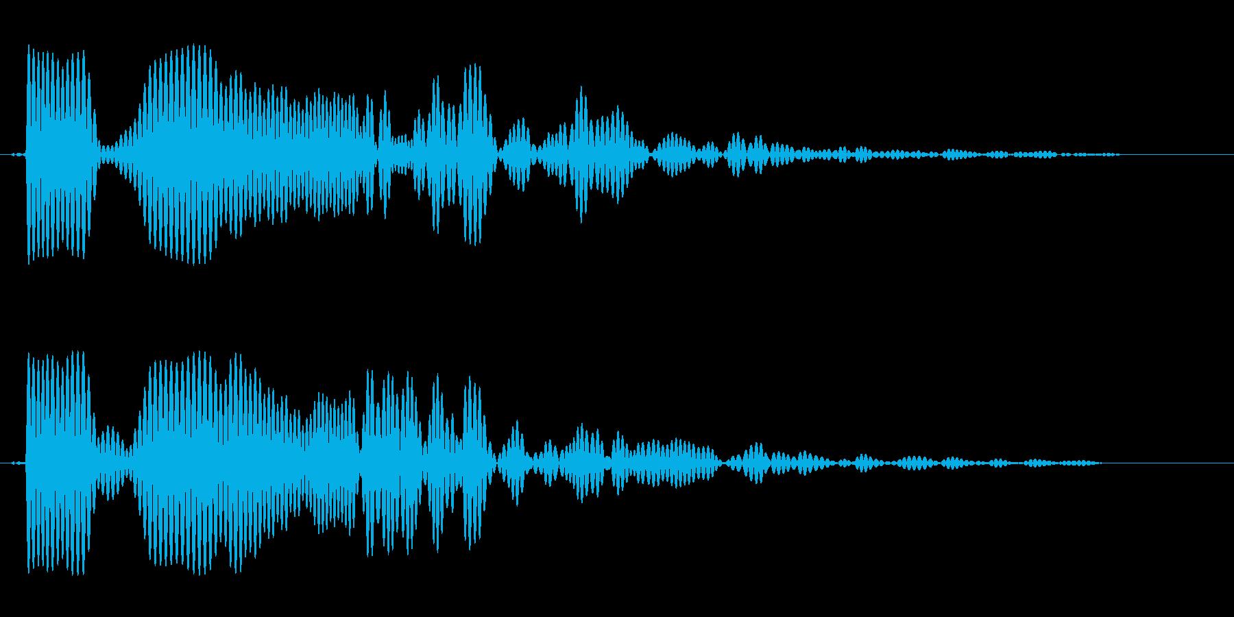 ドボーンと小さく響く効果音の再生済みの波形