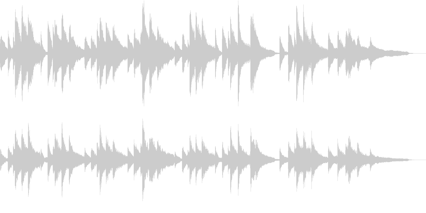 ショパンの前奏曲第7番 イ長調の未再生の波形