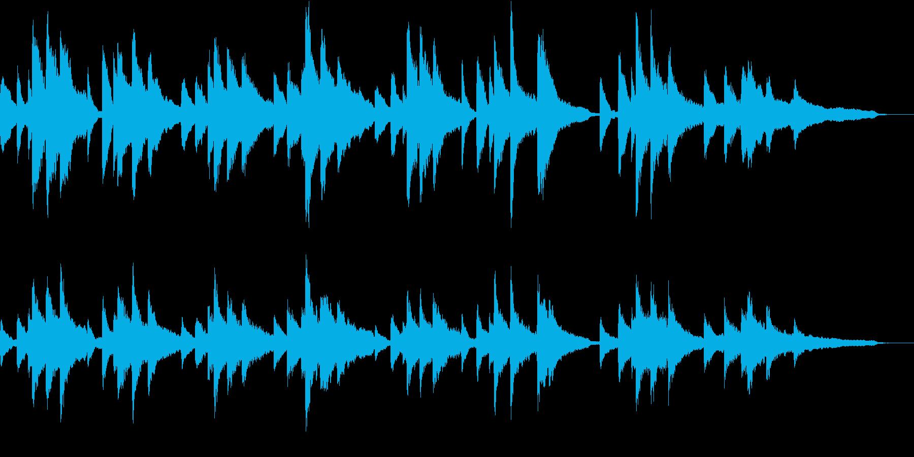 ショパンの前奏曲第7番 イ長調の再生済みの波形