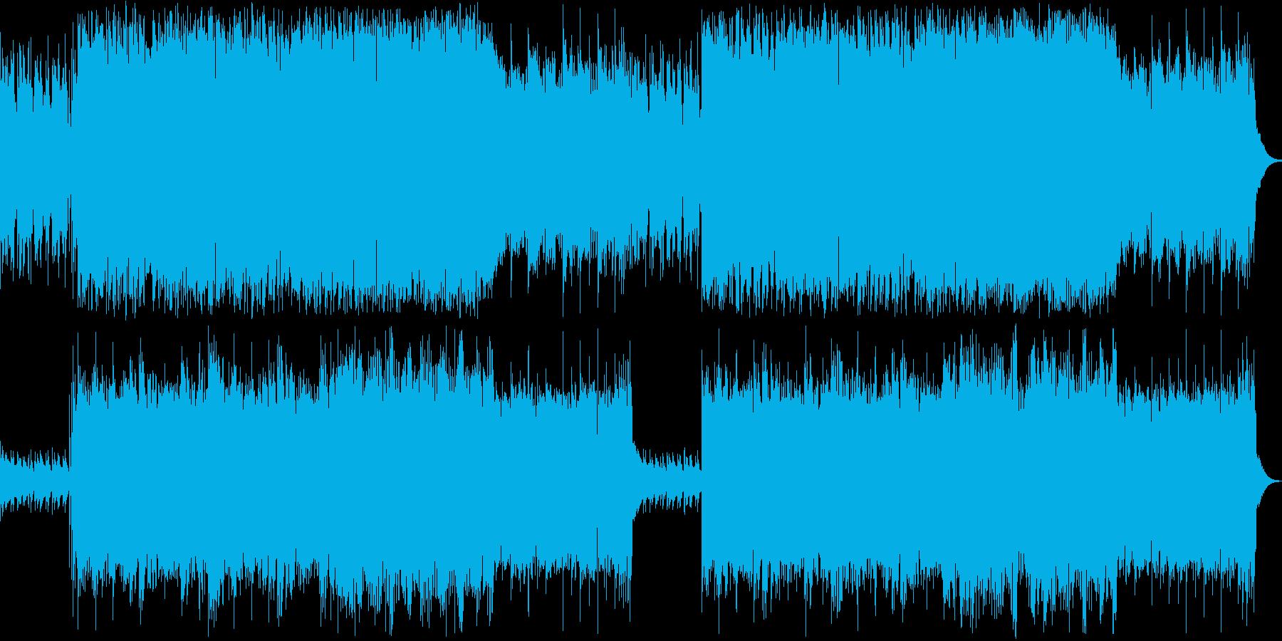 シリアスとコミカルな雰囲気のBGMの再生済みの波形