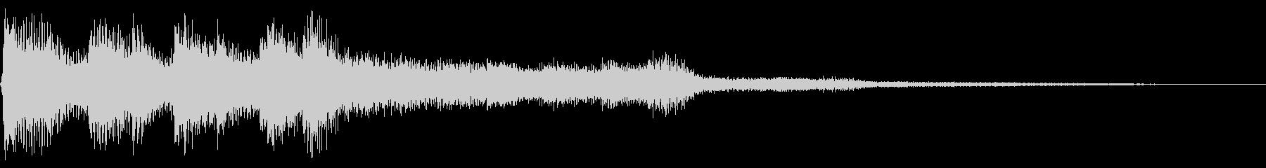 レトロなゲームオーバー音 ミス音 残念の未再生の波形