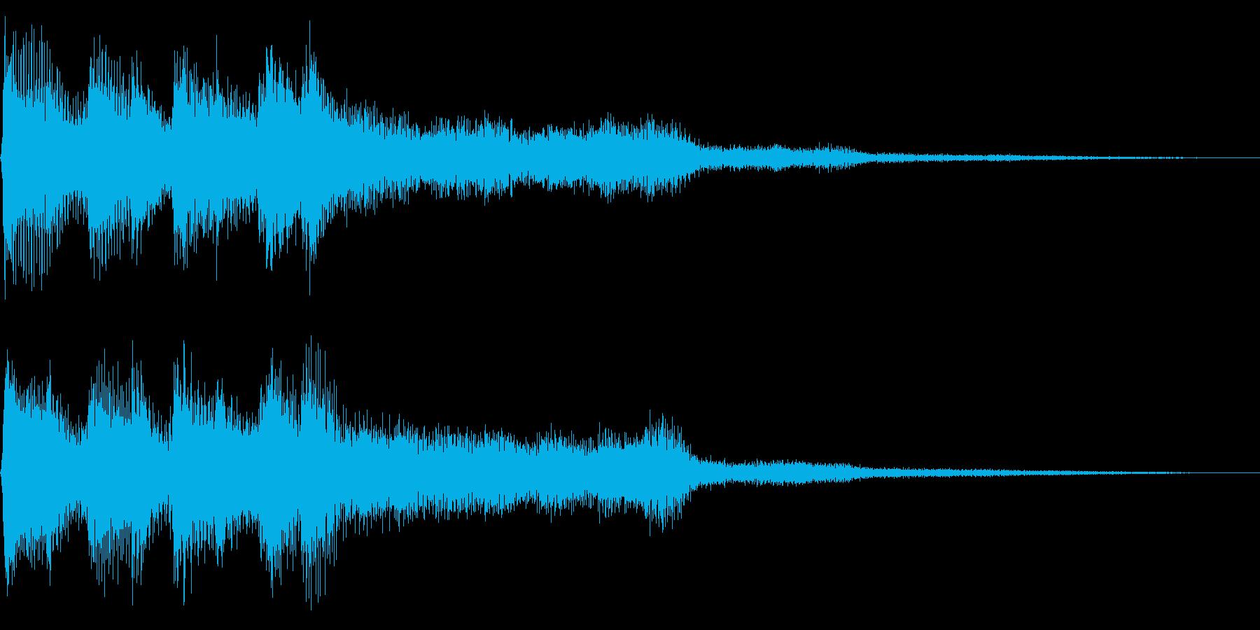 レトロなゲームオーバー音 ミス音 残念の再生済みの波形