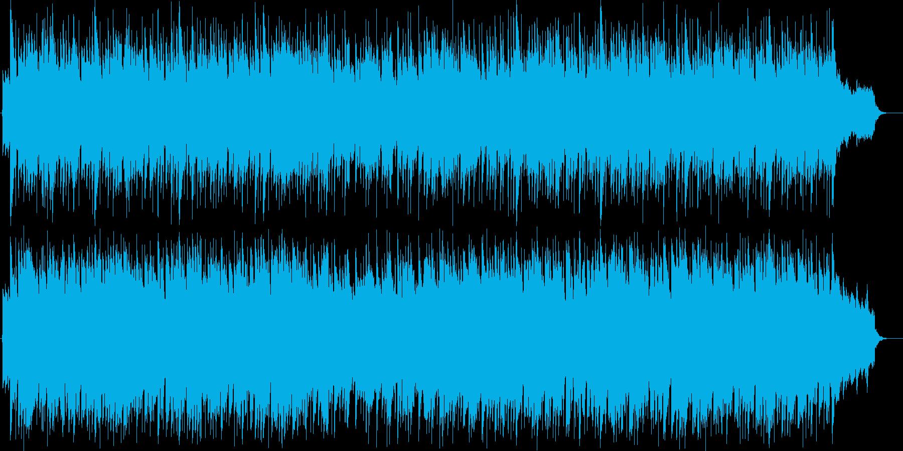 オープニング向けの希望に満ちたBGMの再生済みの波形