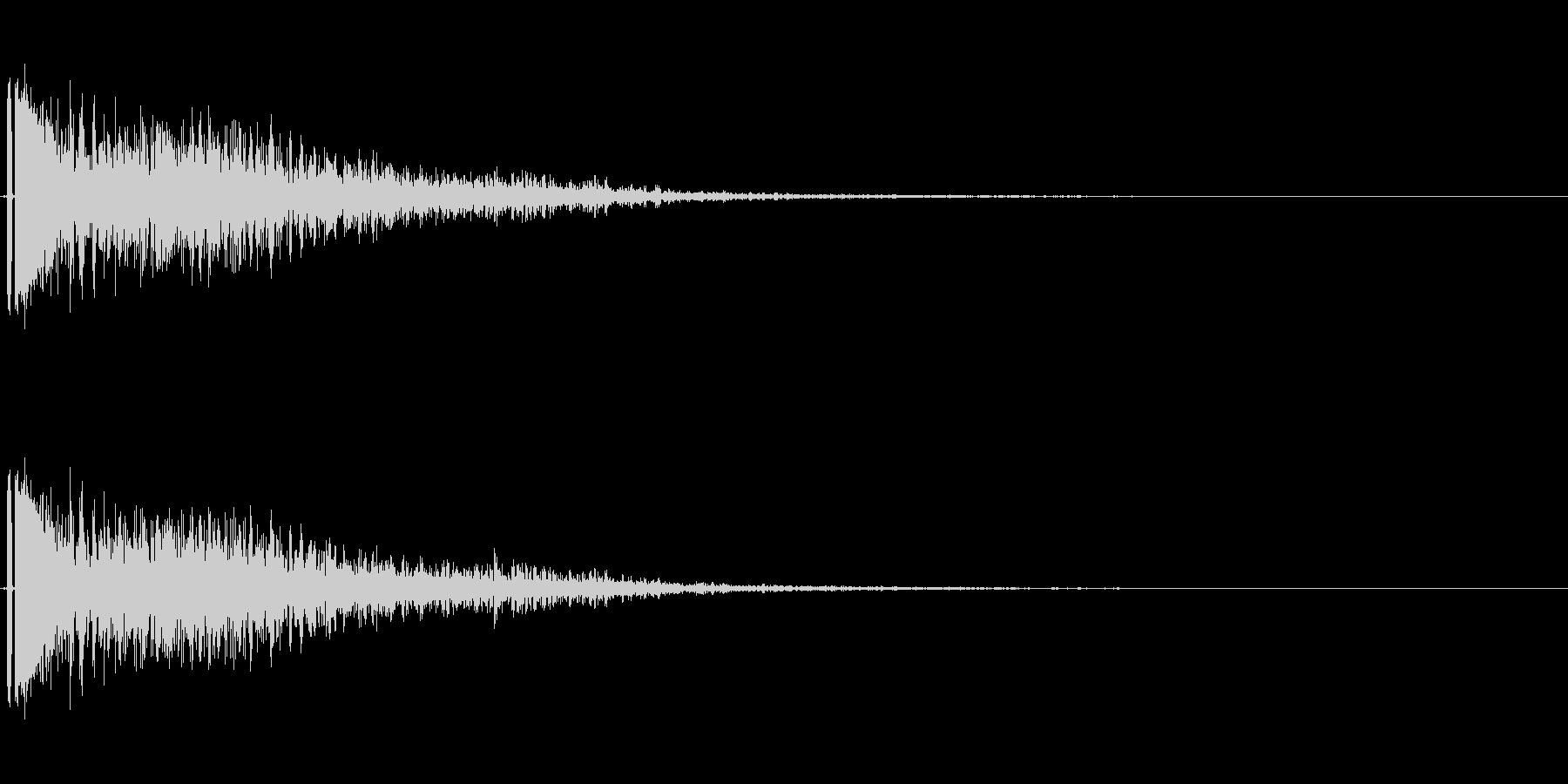 爆発音。小規模。ドカーン。の未再生の波形