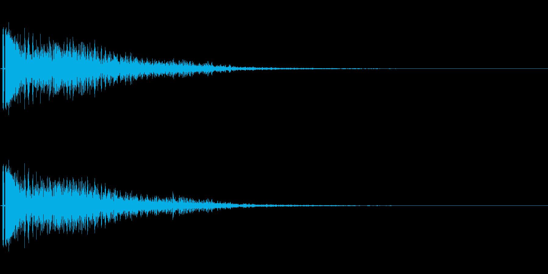 爆発音。小規模。ドカーン。の再生済みの波形