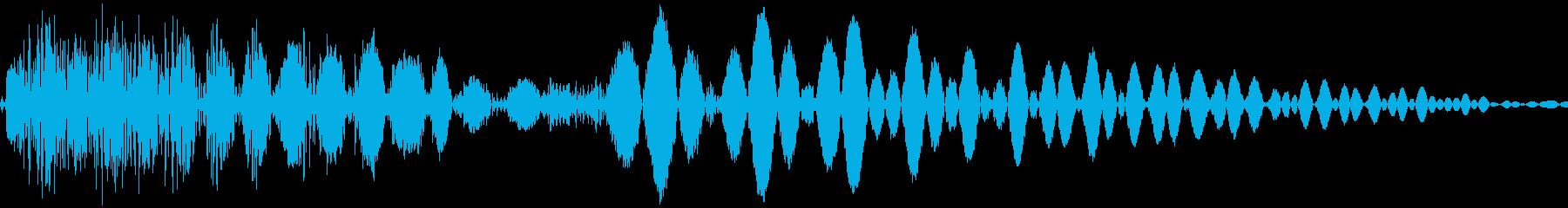 ドスン(落下 決定 跳ねる)の再生済みの波形