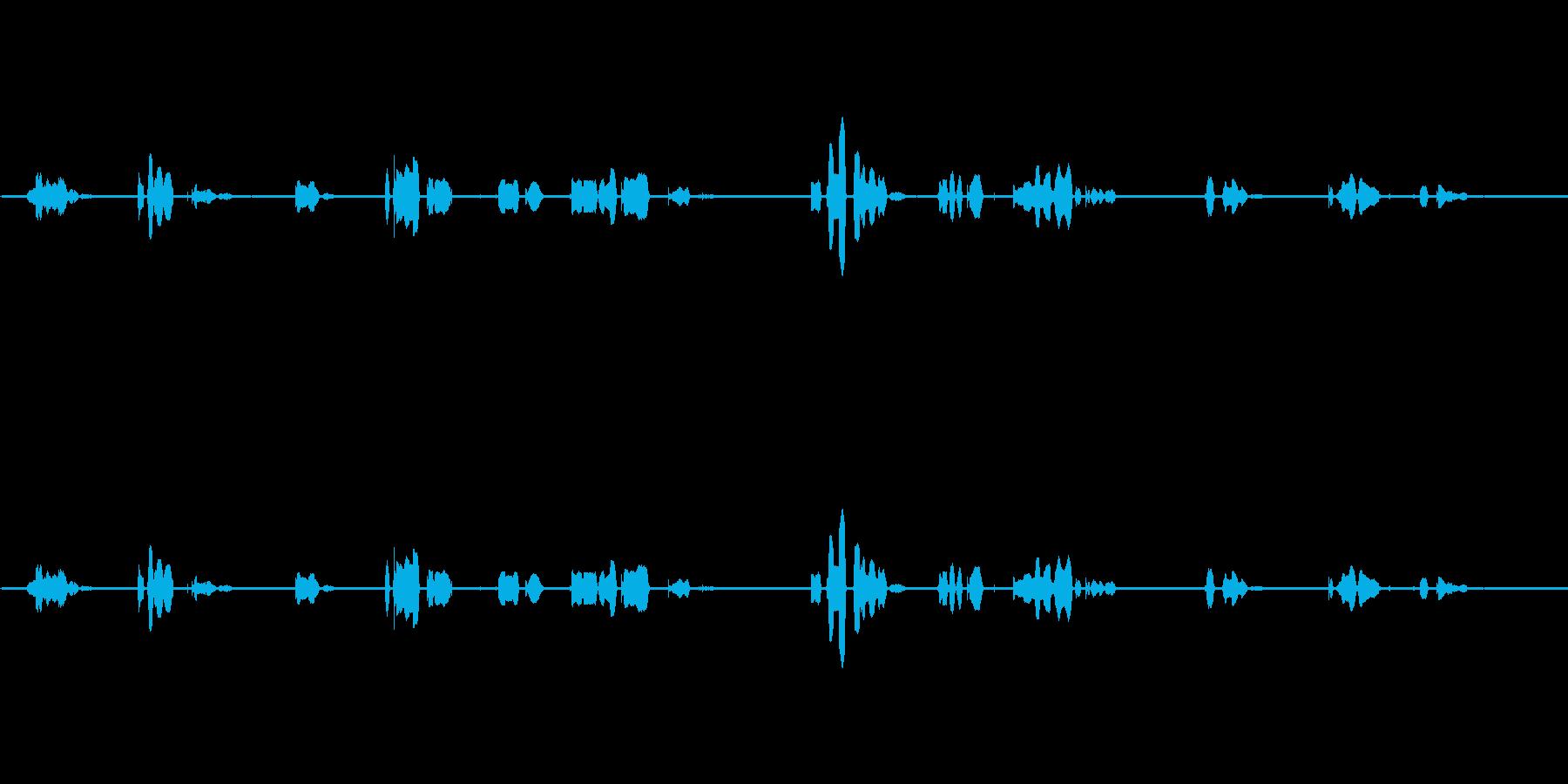 (留守電音声)「何時になったら連絡もら…の再生済みの波形
