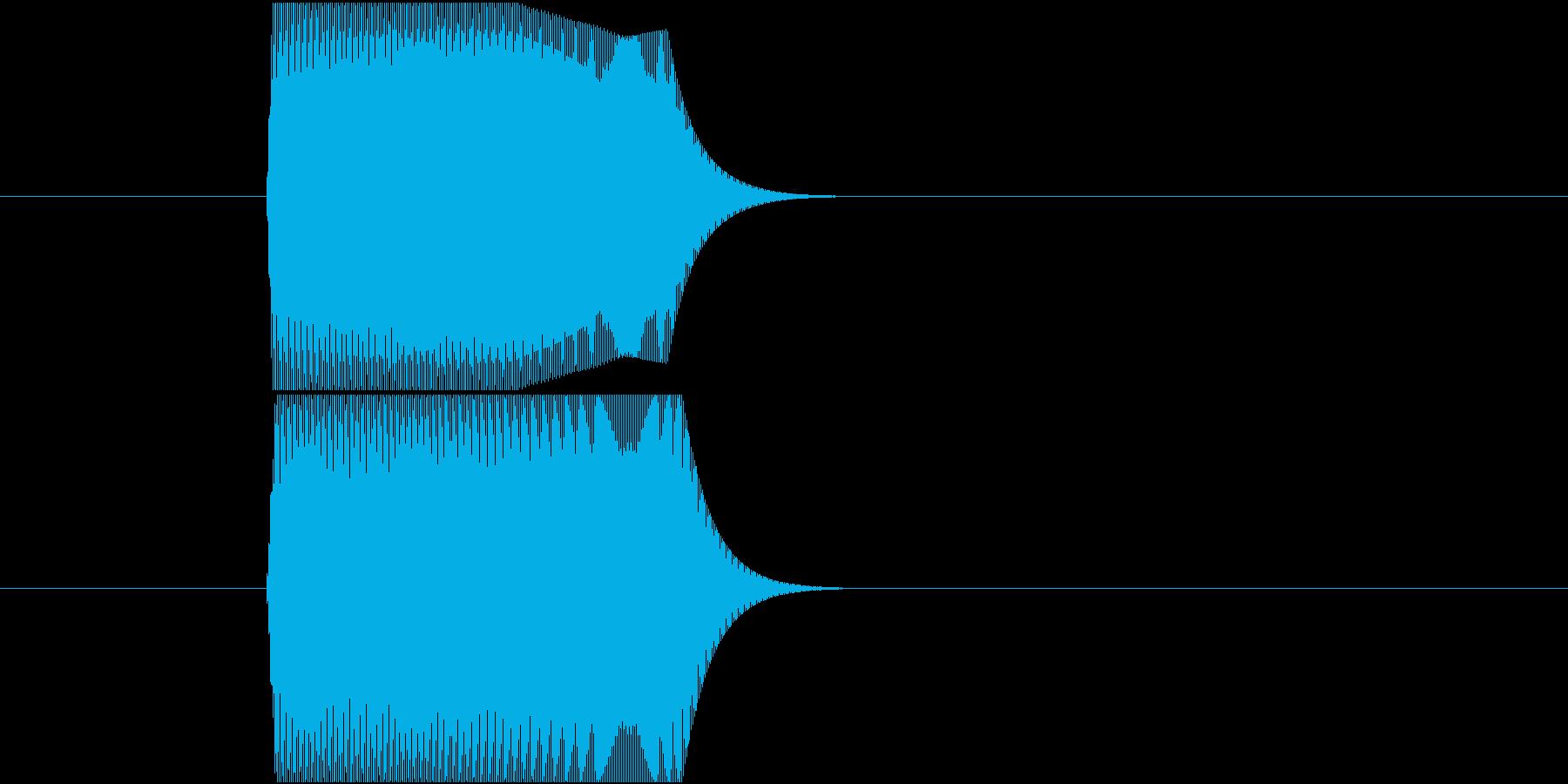 ジャンプ、ぴょん、ぽい、ポップな上昇音の再生済みの波形