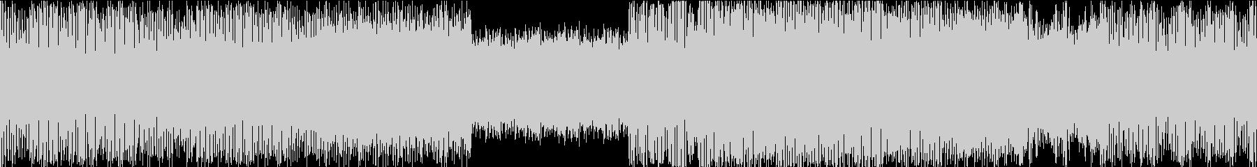 【ループ】リズム重視の重低音ダンス楽曲の未再生の波形