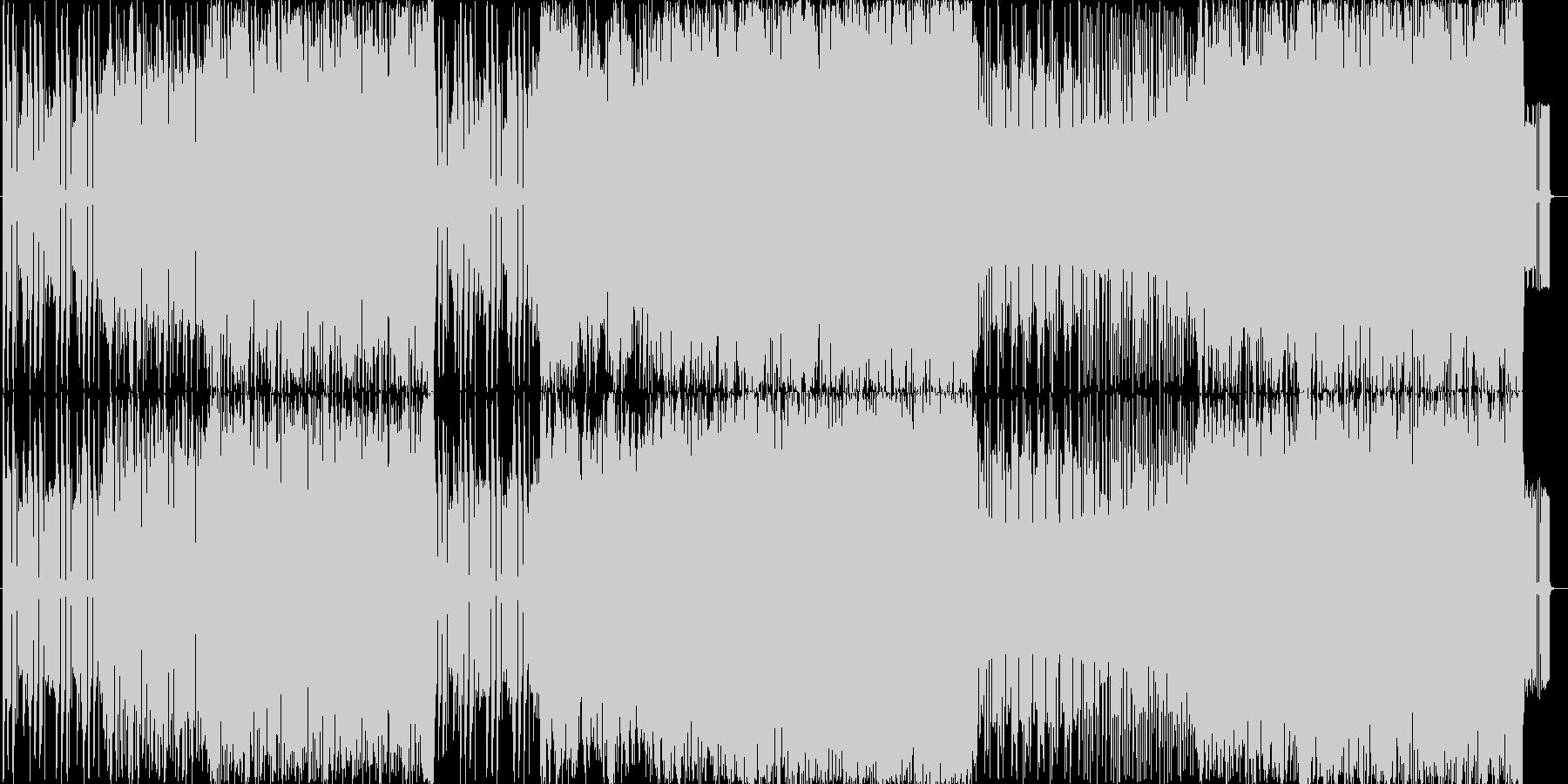 挑戦を挑まれた時の曲の未再生の波形
