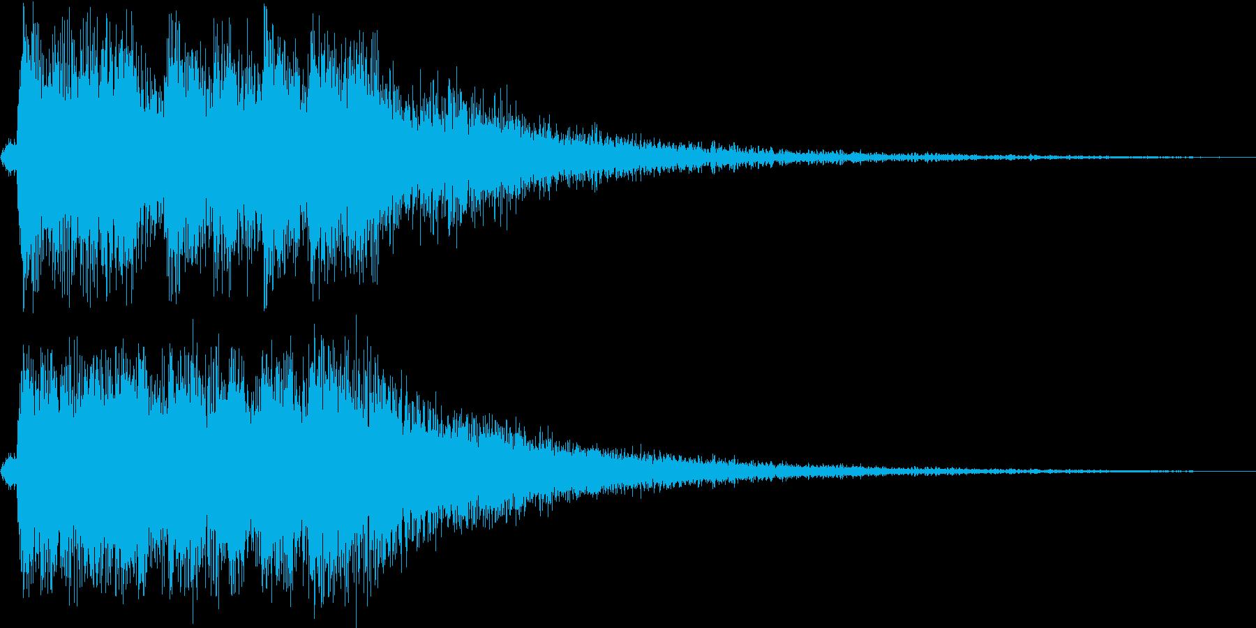レベルアップっぽいファンファーレ4(速めの再生済みの波形