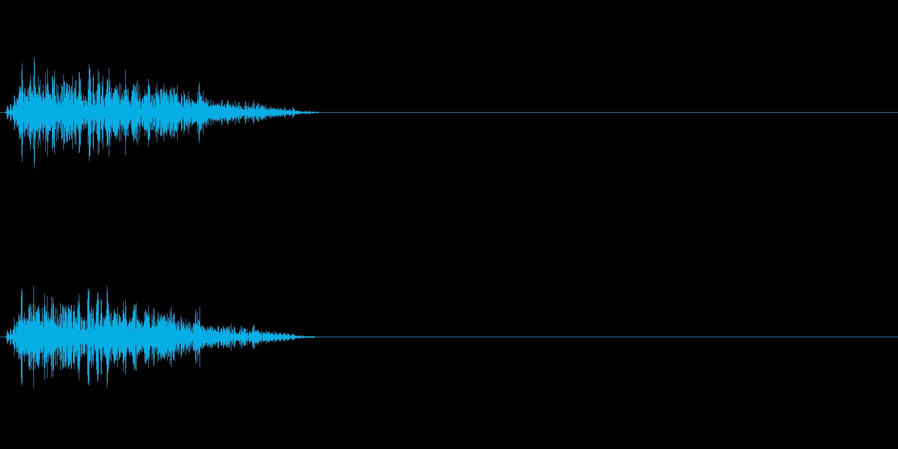 ビュンッ 斬撃音の再生済みの波形