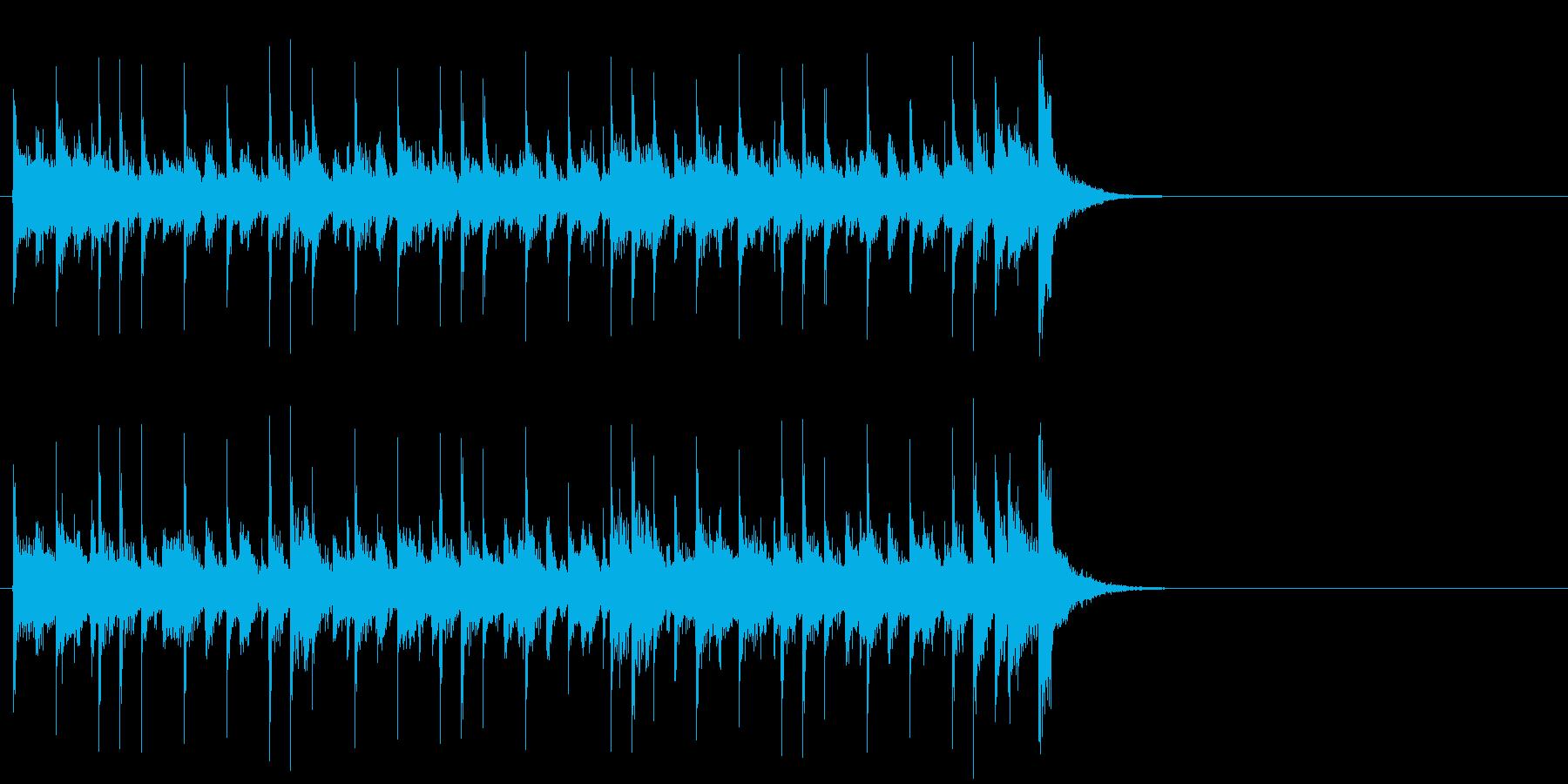 おどけた軽快なポップ(Aメロ)の再生済みの波形
