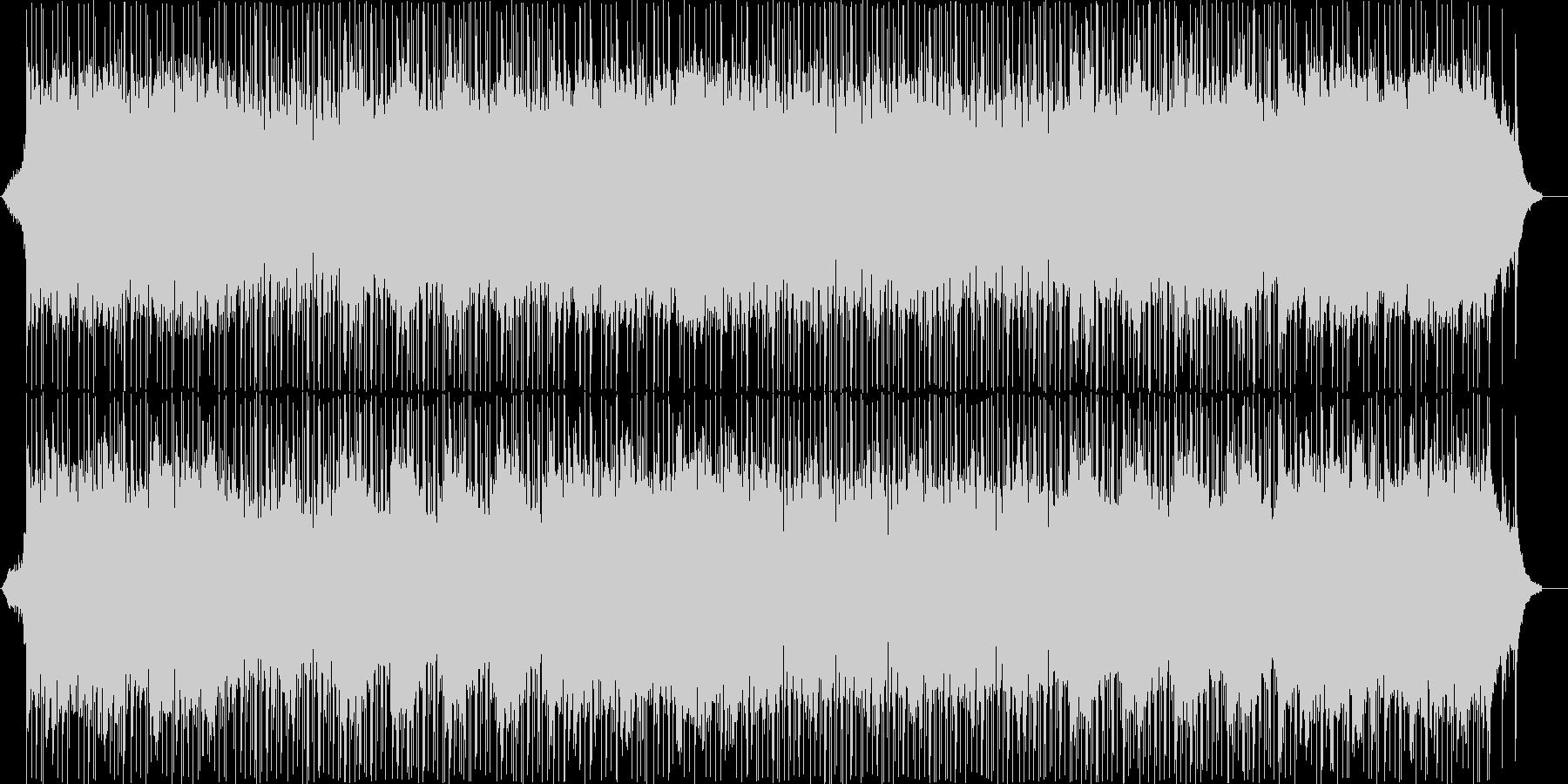 メタル風ギターサウンドと和楽器の曲の未再生の波形